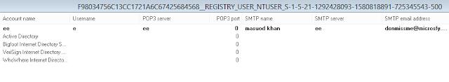 Imagen de la cuenta de Outlook Express de Masoud
