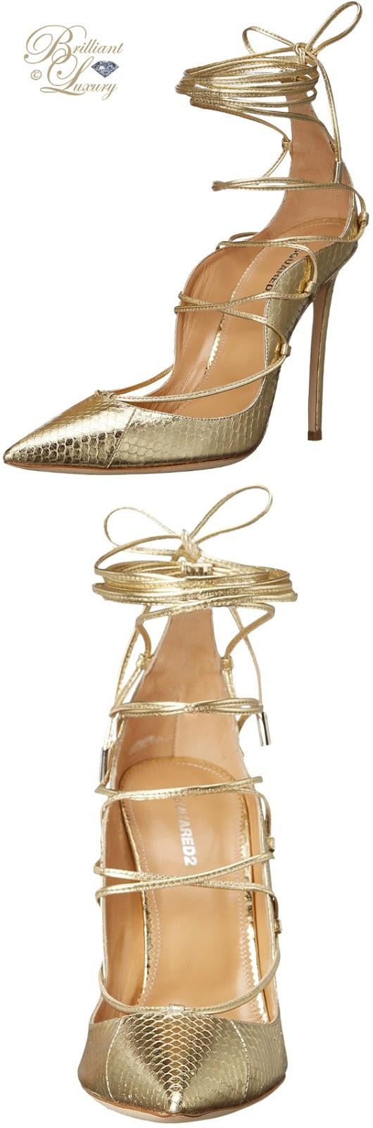 Brilliant Luxury ♦ Dsquared2 golden Riri strappy sandals