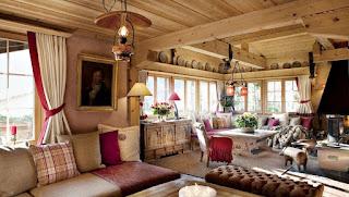 Окна деревянные в стиле chalet