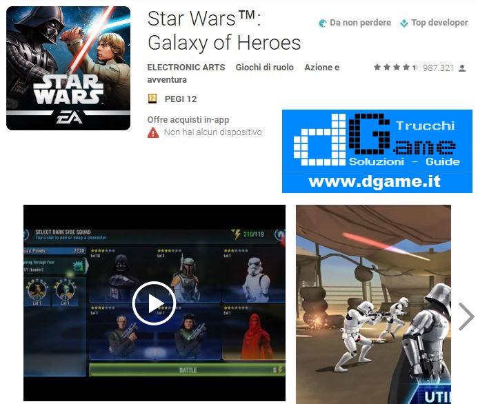 Trucchi Star Wars: Galaxy Of Heroes V0.6.171473 Mod Apk
