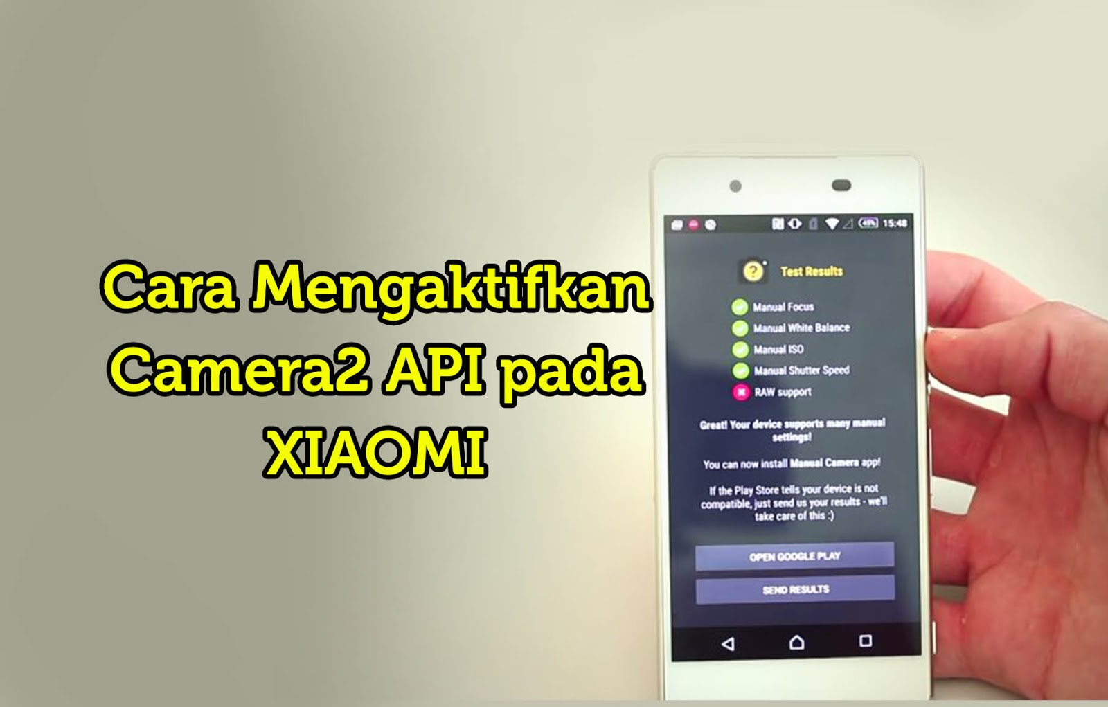 Cara Mengaktifkan Camera2 API Pada Xiaomi