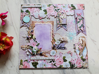 Dress My Craft Floral Layout