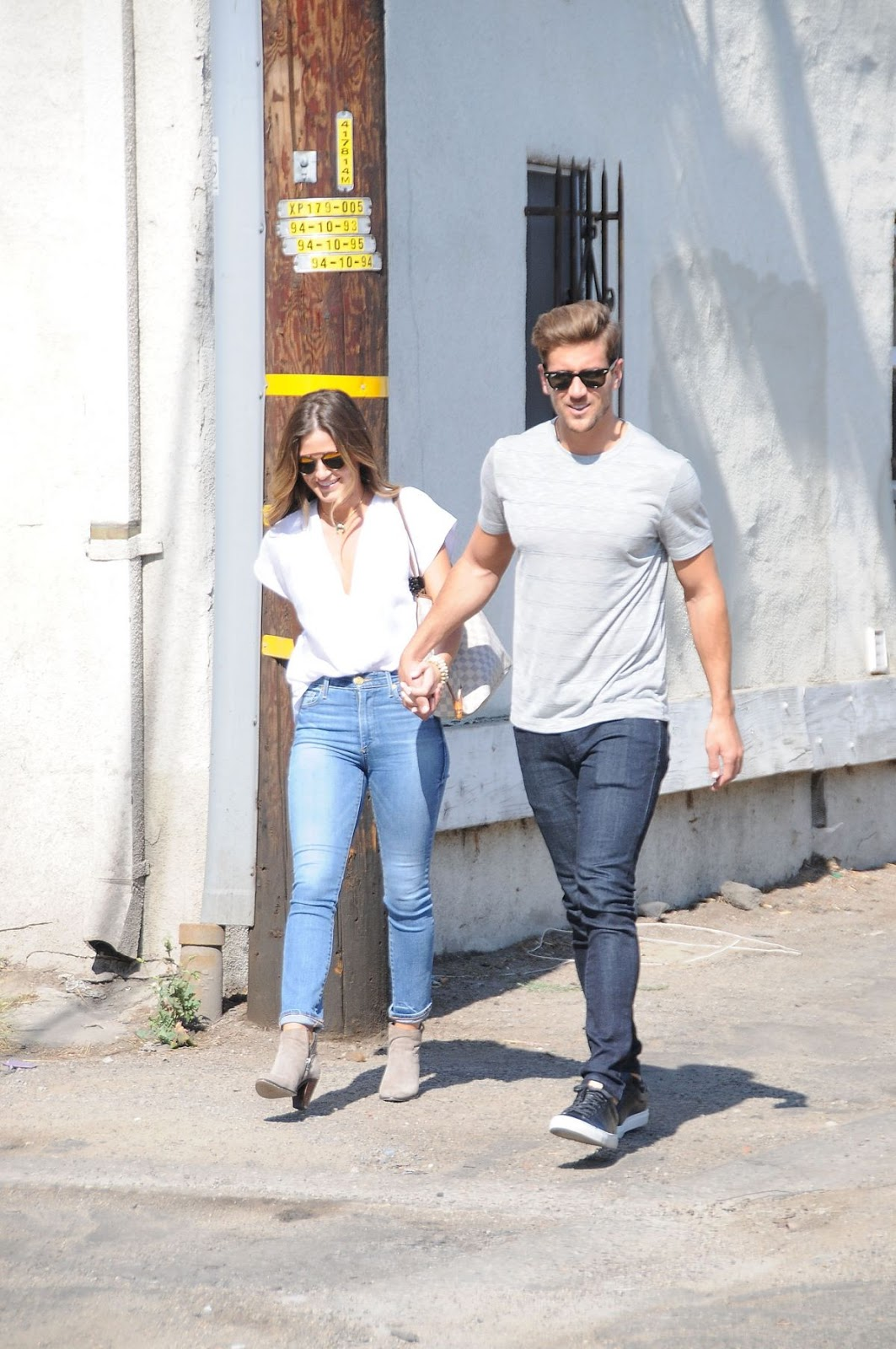 Jojo Fletcher and Jordan Rodgers in Los Angeles