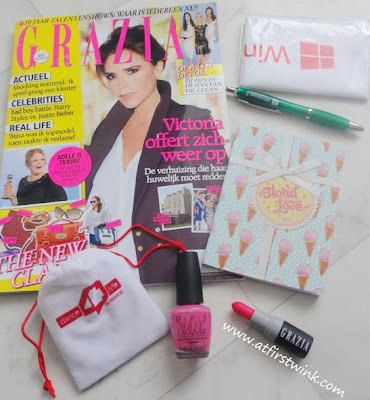 contents of the Grazia Fashion Bloggers Masterclass goodiebag