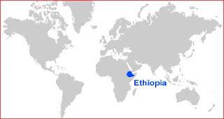 Gambar Peta letak Ethiopia