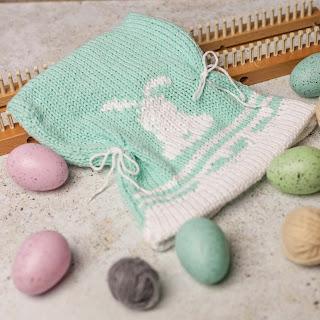 Loom Knit Bunny Washcloth Pattern, Bunny Hat
