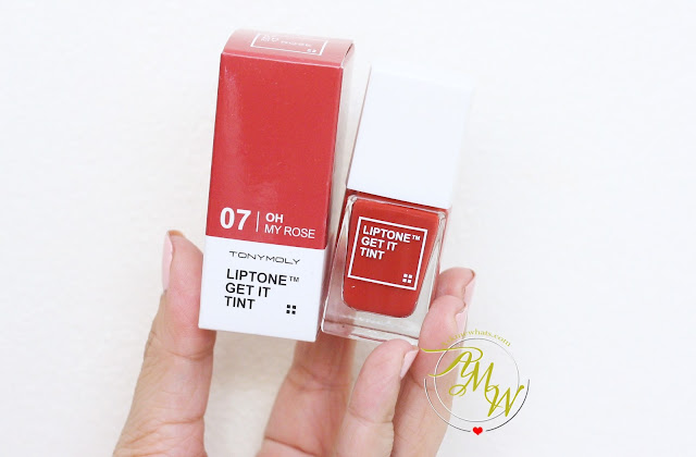 a photo of Tony Moly LipTone Get it Tint in 07 Oh My Rose