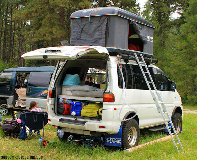 Rare to us, this Mitsubishi Delica turbo is a rad ride but was recovering from an oil line issue. Let's hope they made it home safely back to Canada!