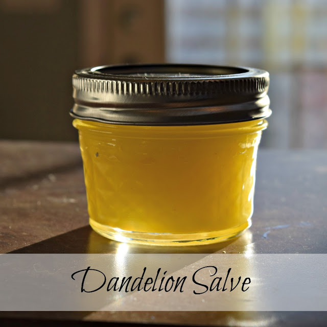 Make dandelion salve from those weeds in your lawn.
