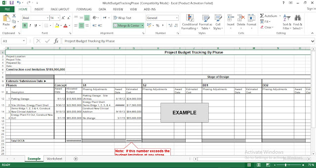Download Construction Project Budget Tracking By Phase excel template