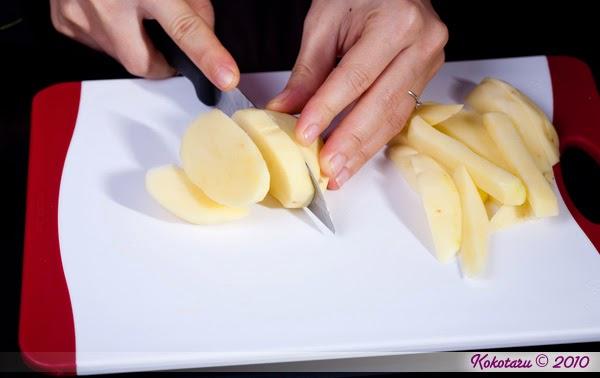Cách gọt, thái khoai tây