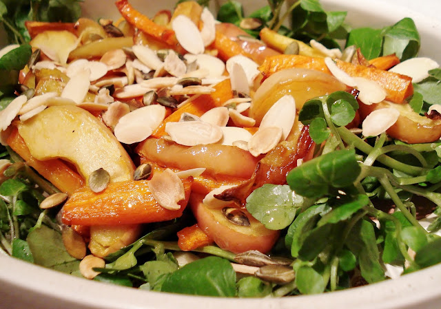 Roasted Apple and Carrot Salad