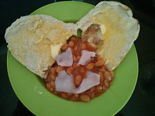 Easter beans on toast