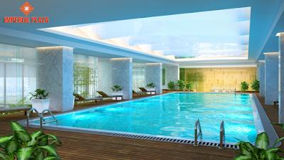 Bể bơi bốn mua chung cư Giải Phóng