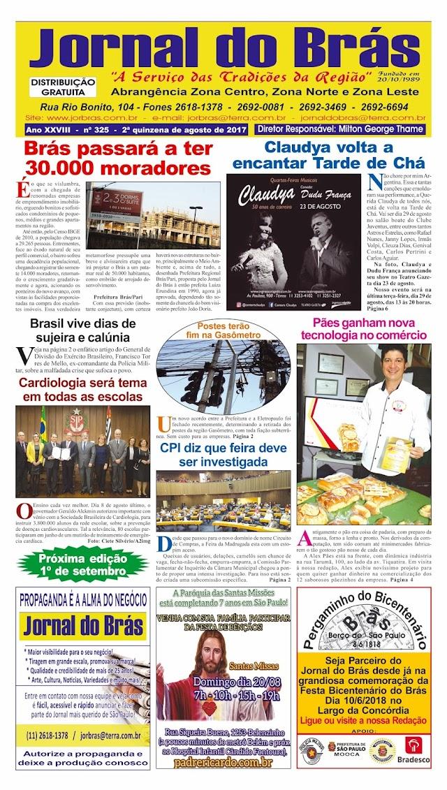 Destaques da Ed. 325 - Jornal do Brás