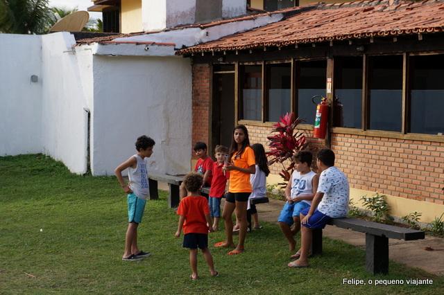 recreação na Pousada dos Tangarás, em Búzios