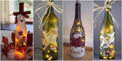 botellas-de-vidrio-decoradas-navidad