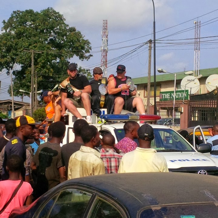 4 Popular Wrestler Hulk Hogan In Ladipo Mushin Lagos (See Photo)