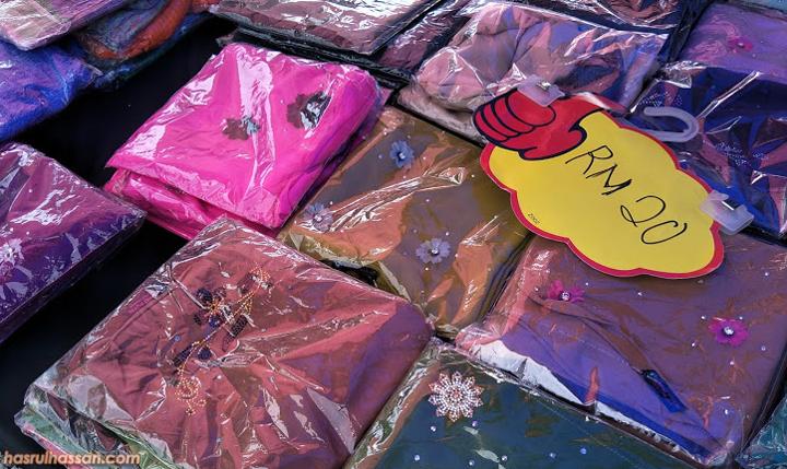 Tudung Duck Ariani di Pasar Kemboja