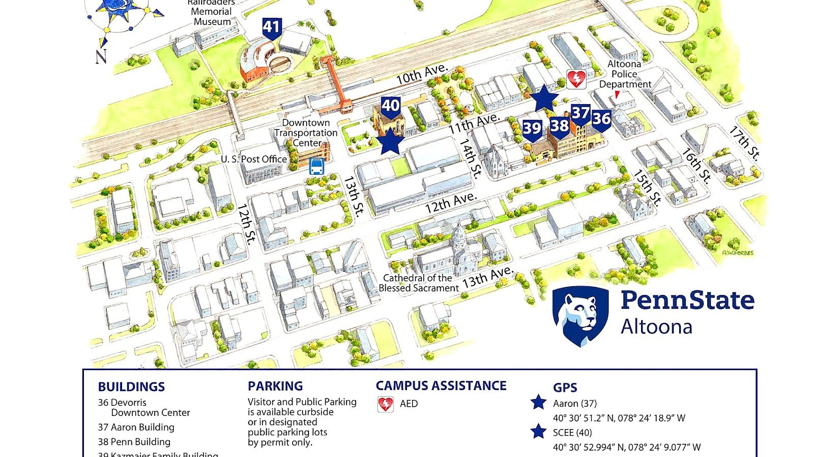 map of penn state campuses Psu University Park Map Trip To Park map of penn state campuses
