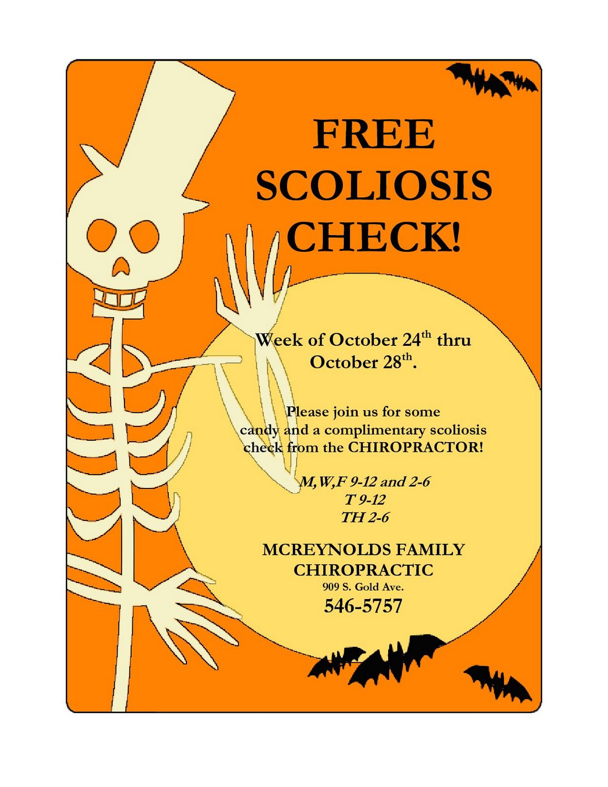 scoliosis check by pediatric chiropractor in deming nm
