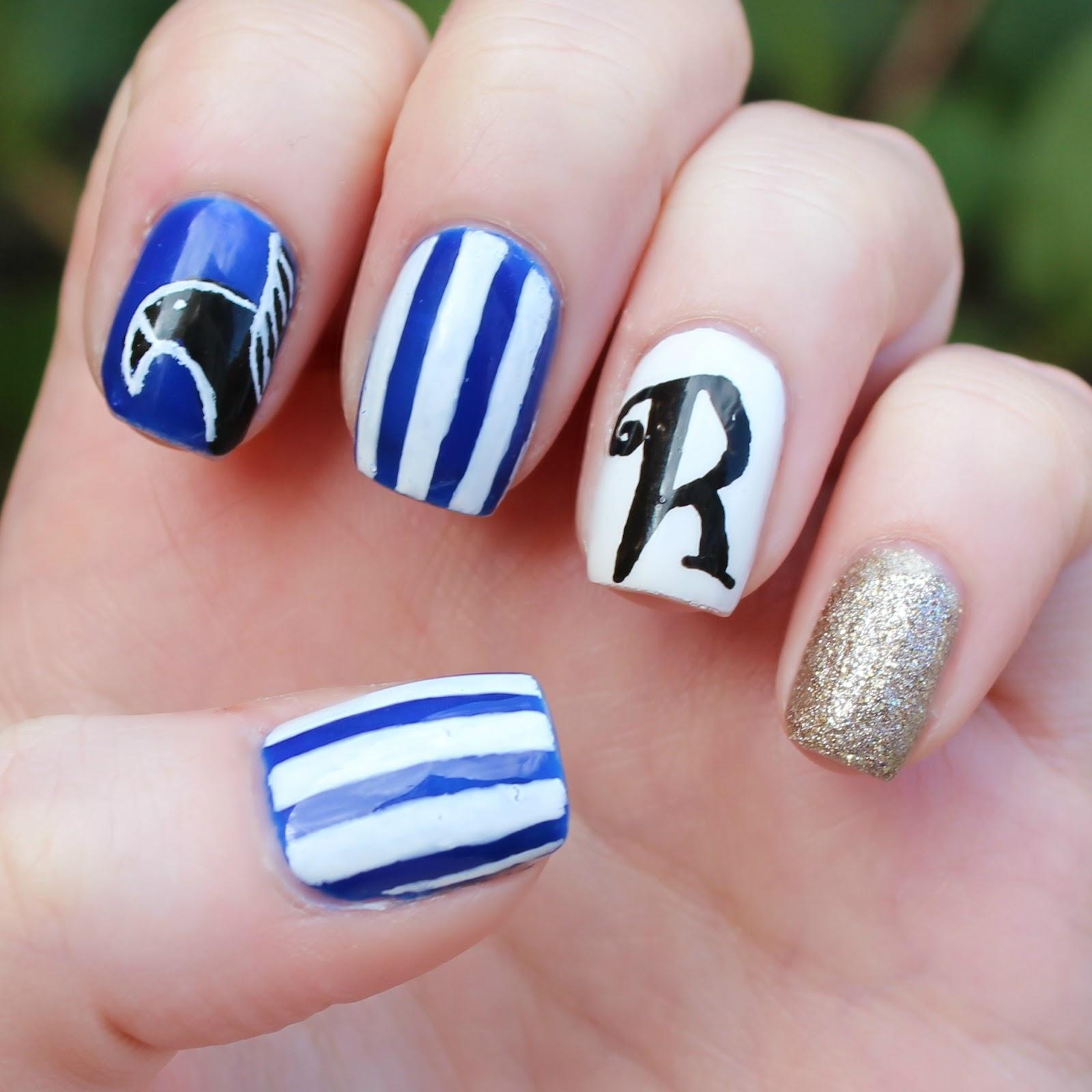 Dahlia Nails: Ravenclaw Nail Art