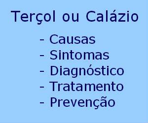 Terçol e calázio causas sintomas diagnóstico tratamento prevenção