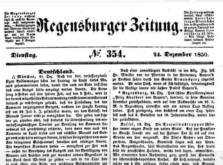 Zeitung Regensburg