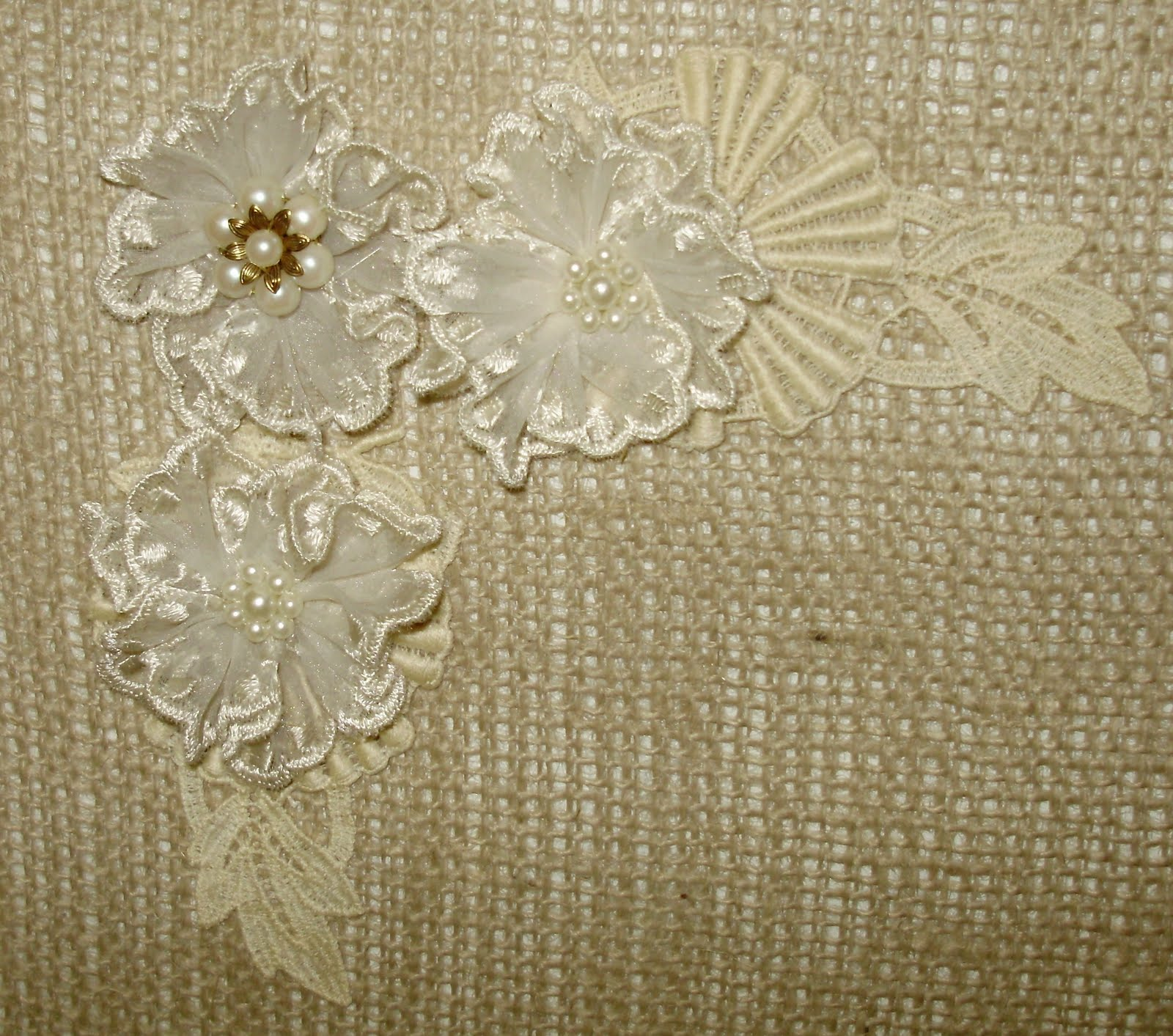 ReCycle ReUse ReDesign Burlap  Lace Magnet Board