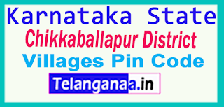 Chikkaballapur District Pin Codes in Karnataka State