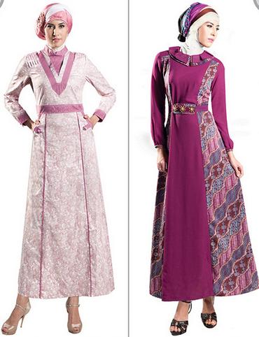 Desain Baju Muslim Batik Terbaru Gambar Baju Muslim Batik Modern