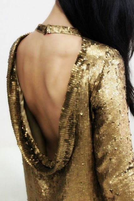 Sparkly, Gold Holiday Gowns Details by Cool Chic Style Fashion