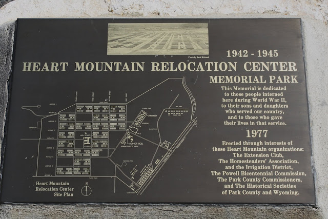 Heart Mountain Relocation Center Plaque