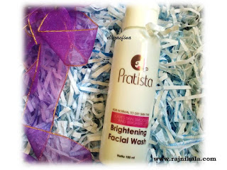 bightening facial wash pratista
