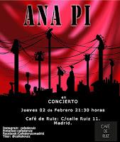 Concierto de Ana Pi en Café de Ruiz