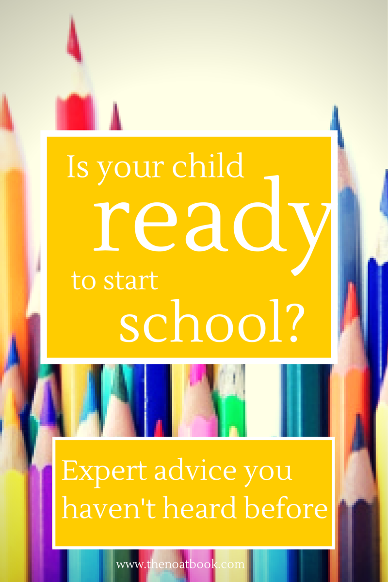 the nOATbook: Is your child ready for school? Expert ...