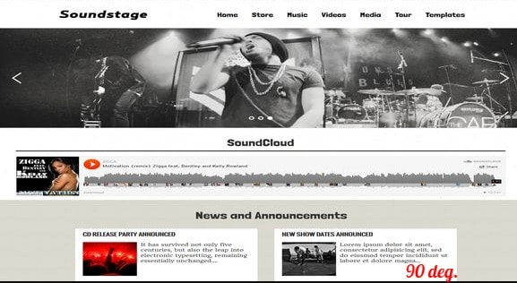 Soundstage Blogger Template
