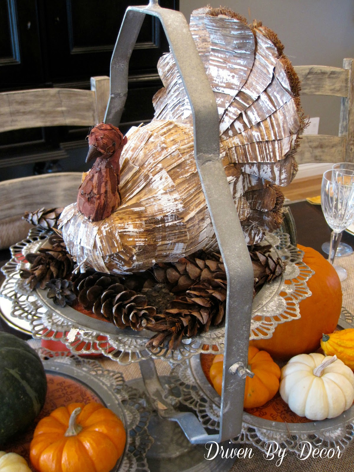A Start to Decorating Our Thanksgiving Table