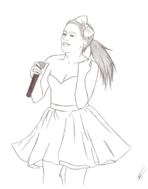 Ariana Grande Coloring Pages Stardust  View Gallery Throughout  Stylish Selena Gomez Coloring Pages For Kids