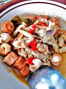 resep tumis sosis goreng jamur