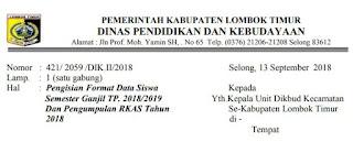 Permintaan Data Siswa Semester Ganjil TP. 2018/2019