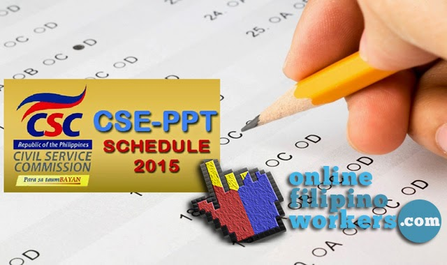 Civil Service Exam 2015 for Professional and Sub-professional PPT Schedules for Application