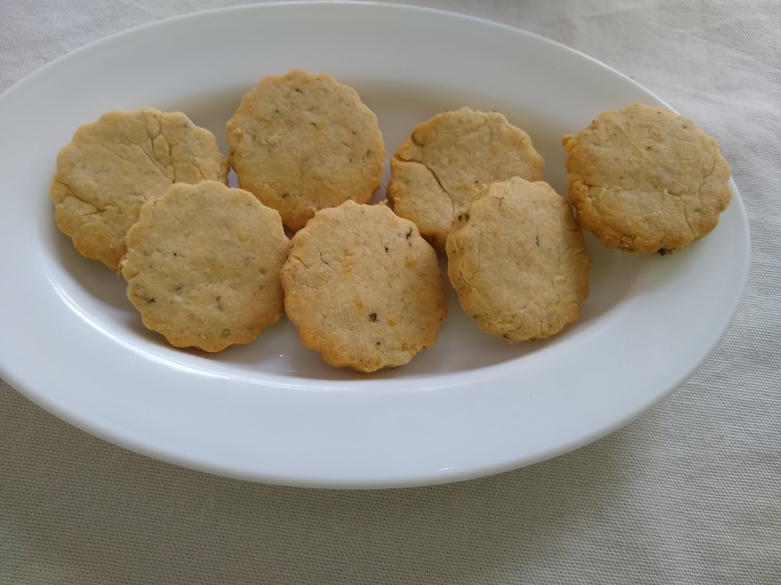 Bolachas de queijo e oregãos