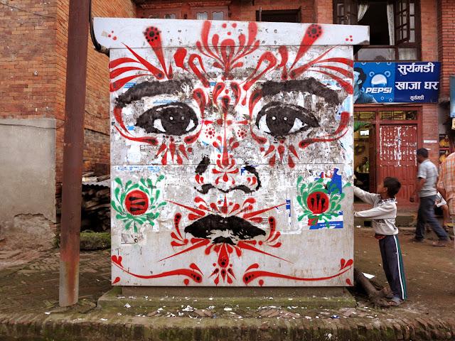 street art by stinkfish in nepal 10