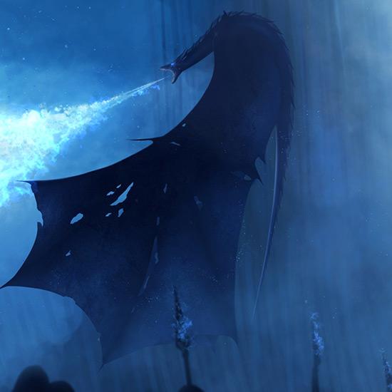 Game of Thrones Night Dragon Wallpaper Engine