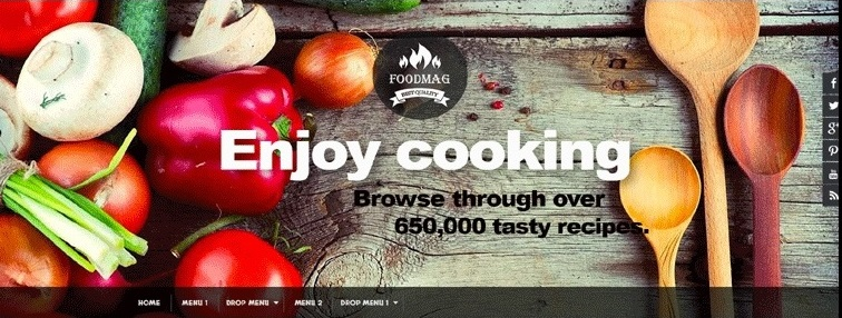 FoodMag Cooking Blogger Template