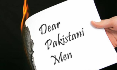 pakistani burnt letter
