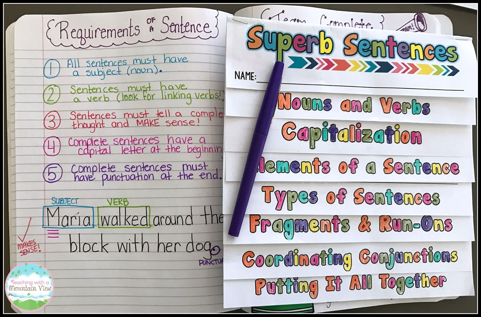 Teaching With a Mountain View: Complete Sentences and Beyond!