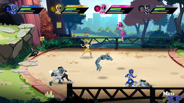 Bandai Namco apresenta Saban's Mighty Morphin Power Rangers: Mega Battle.