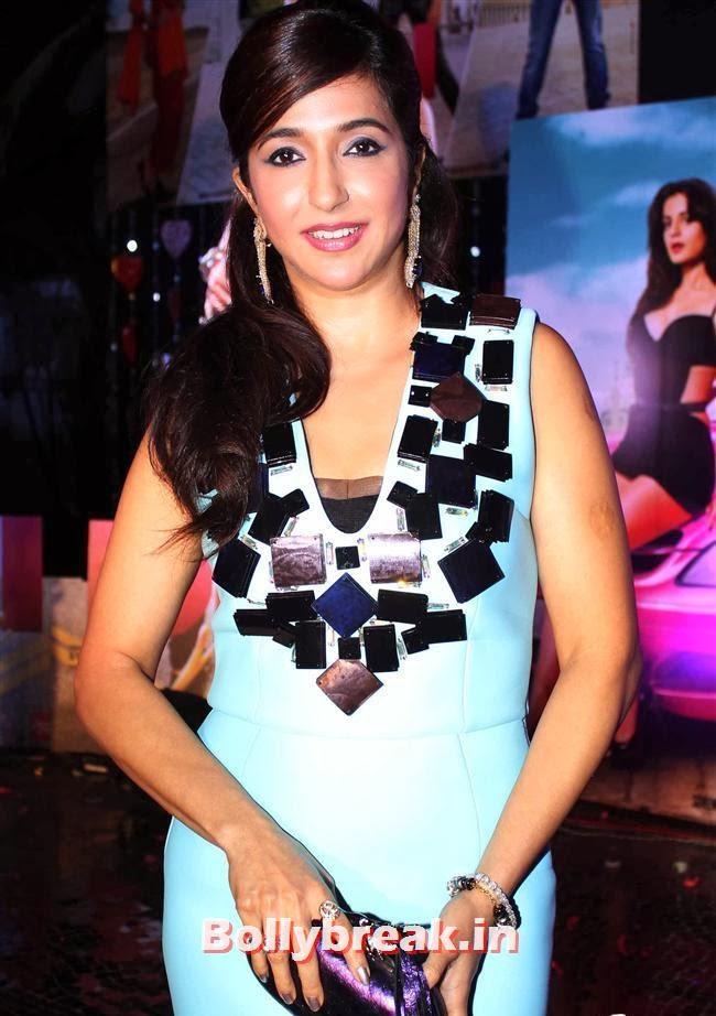 Krishika Lulla, Hot Amisha Patel in White Dress at Desi Magic Poster Launch